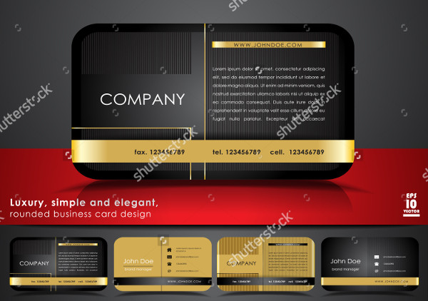 Rounded Classy Business Card