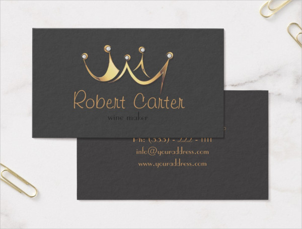 Royal Crown Business Card Template