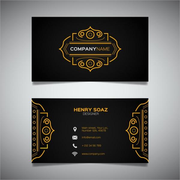 Royal Golden Business Card
