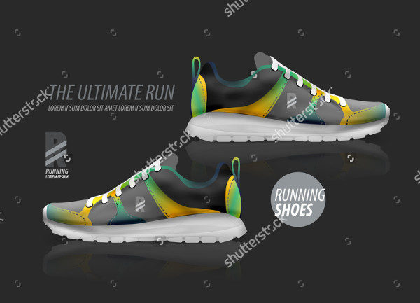 Running Shoes Advertising Mockup