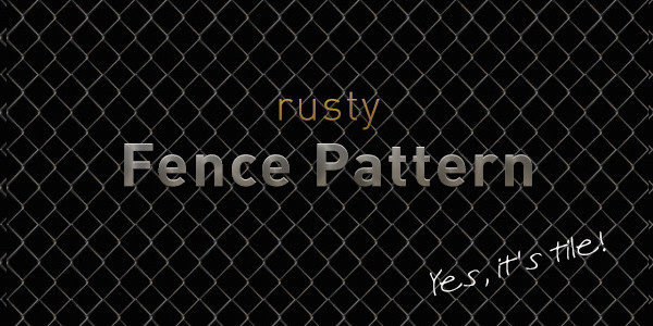 Rusty Fence Pattern