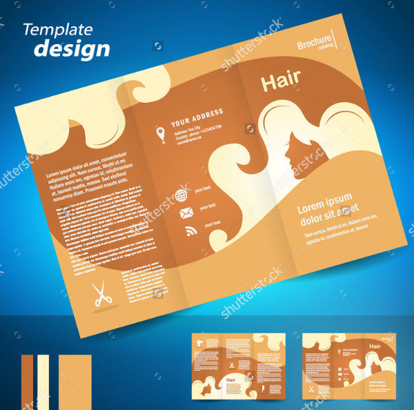 Modern Style Brochure for Hair Salon