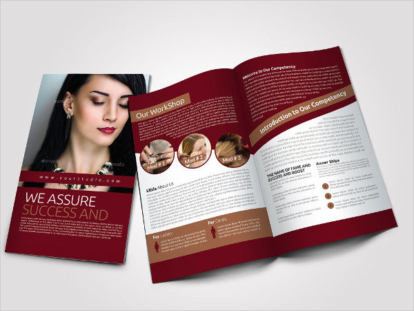 Clean Salon Bi-Fold Brochure Template