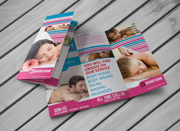 Spa Salon Promotion Brochure Template