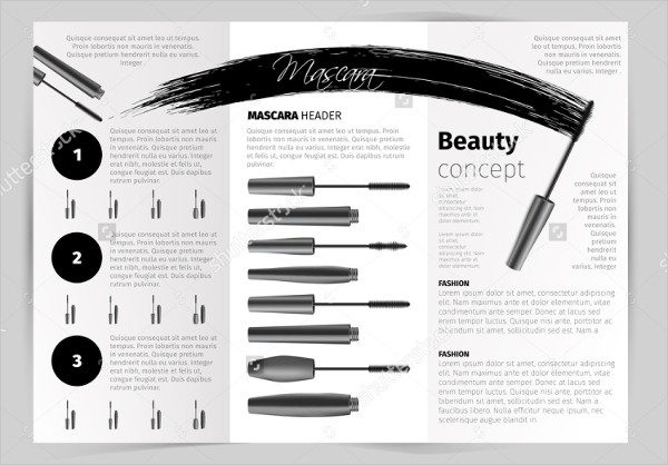 Beauty Salon Vector Brochure Template