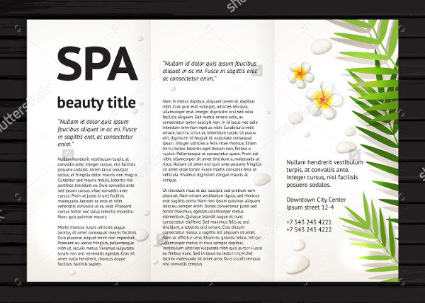 Salon Realistic Design Brochure Template