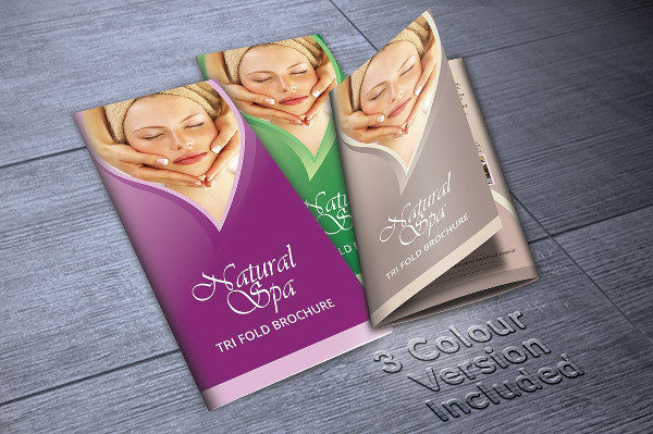 Natural Spa Salon Brochure Template