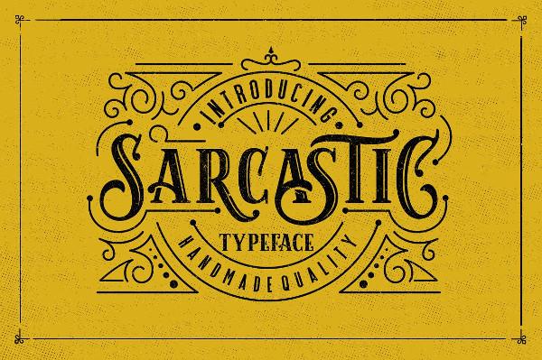 Sarcastic Typeface Font
