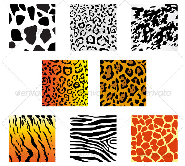 Set of Animal Fur & Skin Pattern