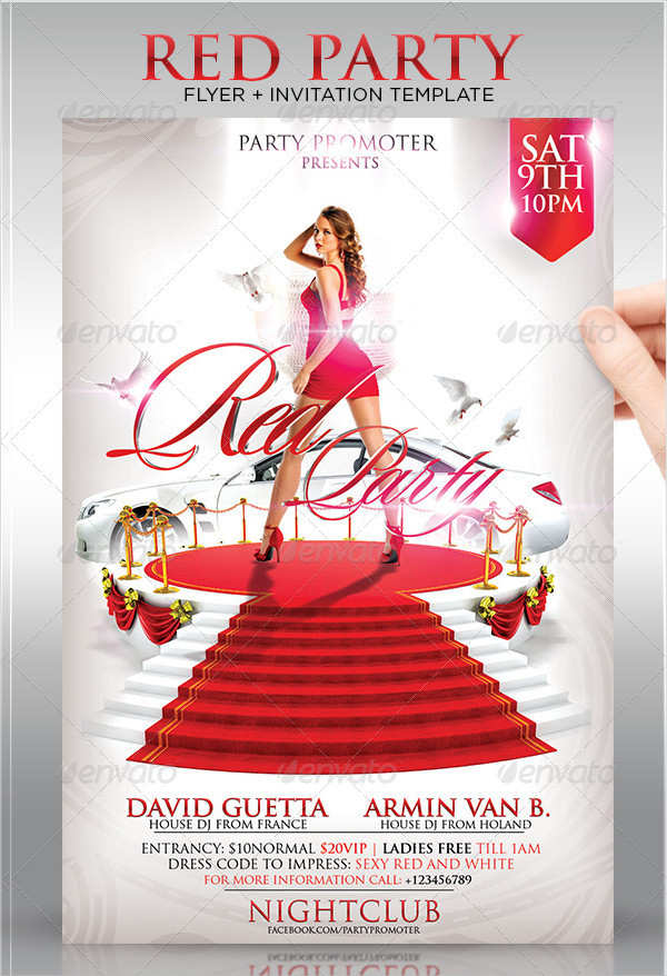 Sexy Red Party Invitation Flyer Template