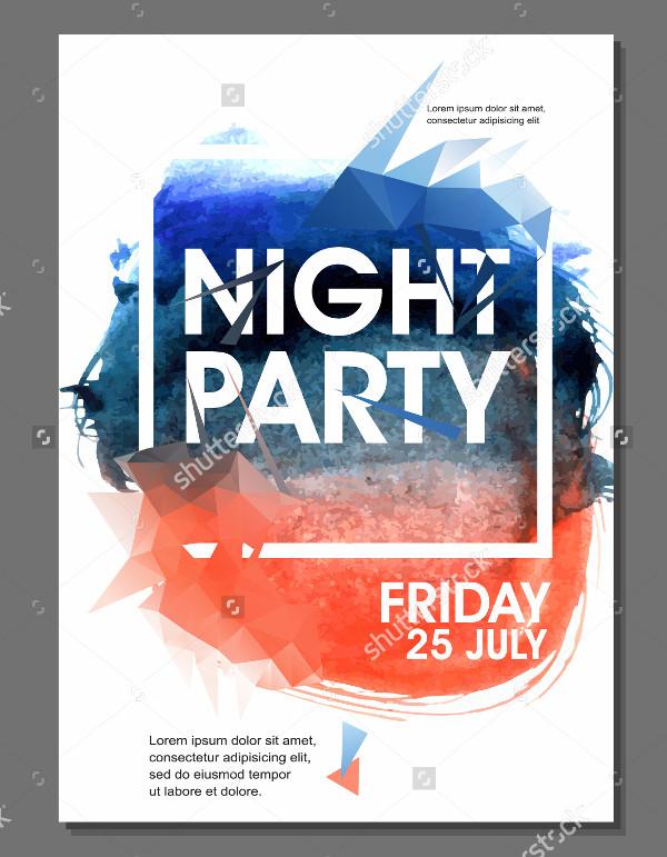 Attractive Summer Night Flyer Template