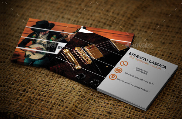 Popular Musical Business Card Template