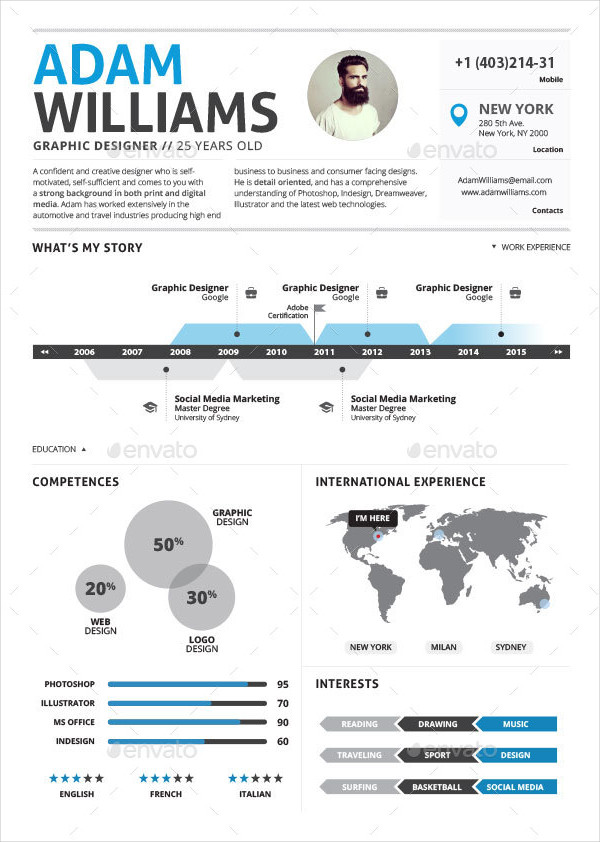 27 Infographic Resume Free Sample Example Format Download
