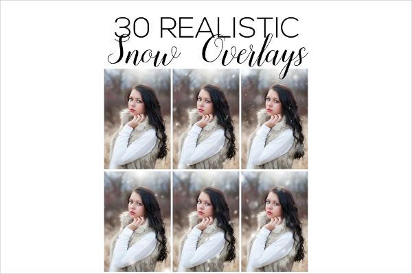 Snow Overlays Photoshop Action