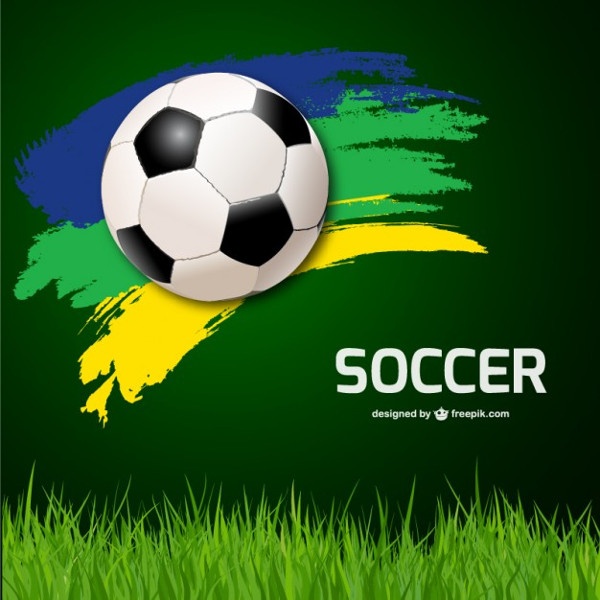 Soccer Ball Background & Grass Free