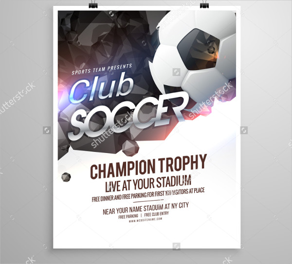 Sports Soccer Club Brochure Design