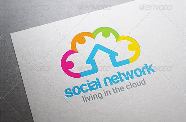 Social Cloud Computing Logo Template