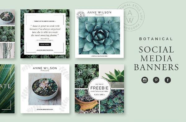 Botanical Social Media Banner Pack