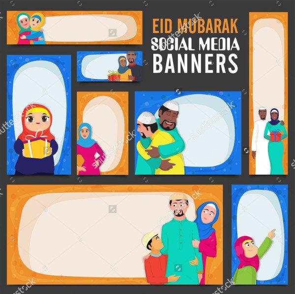 Social Media Banners Illustration