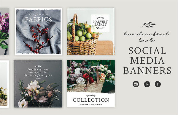 Handcrafted Style Social Media Banners