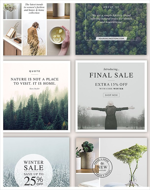 Social Media Banners for Lifestyle Businesses