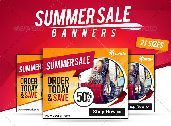 Social Media Summer Sale Banners