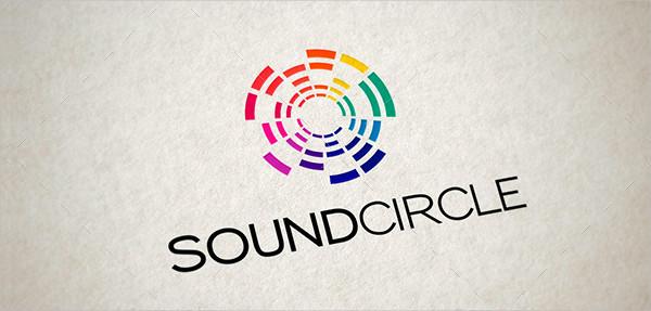 Music Sound Circle Logo Template