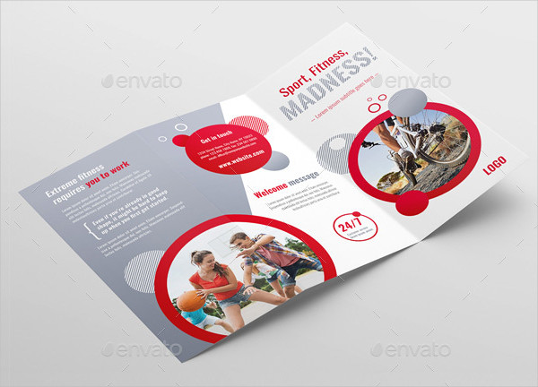 Sports Fitness Brochure Template