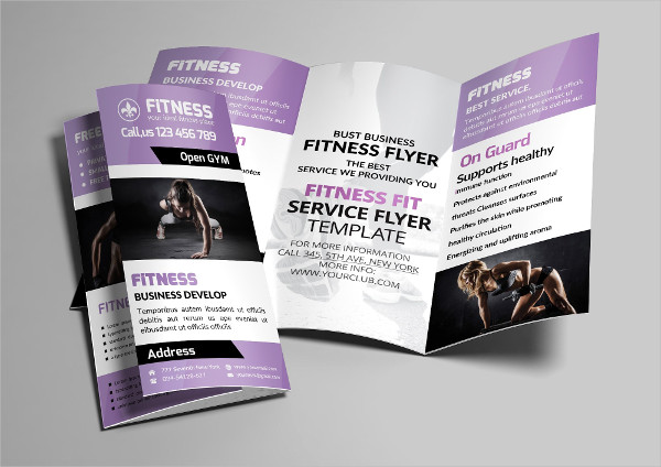 Sport Fitness Trifold Brochure Template