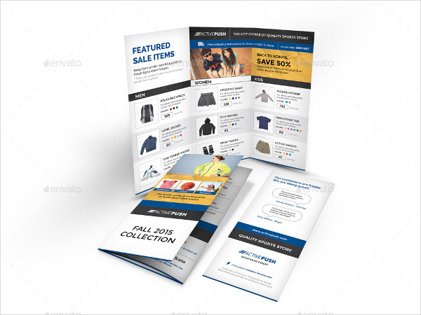 Sports Store Trifold Brochure Template