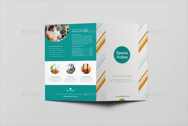 Sports Active Bi-Fold Brochure Template