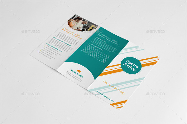 Sports Active Trifold Brochure