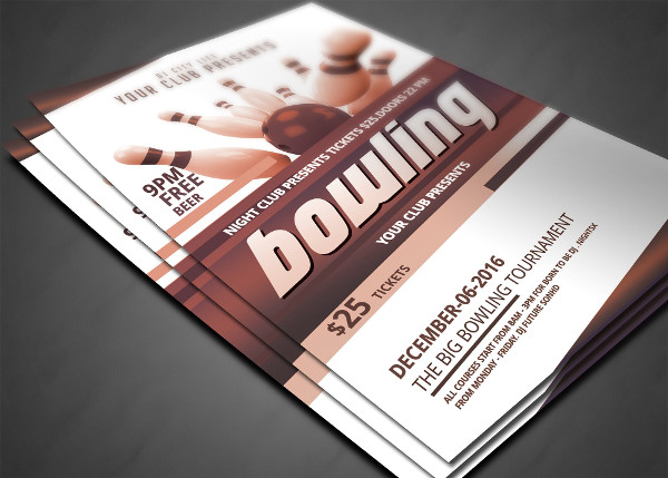 Big Bowling Tournament Flyer Template