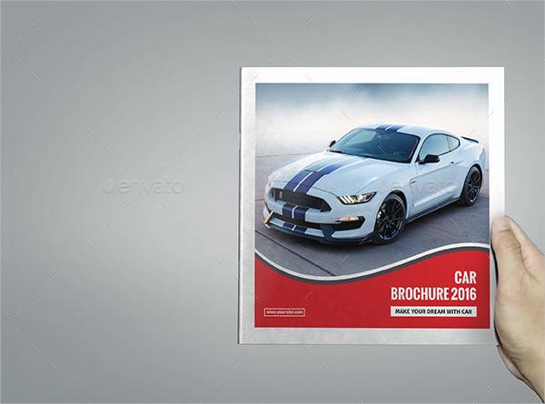 Square Car Company Brochure Template