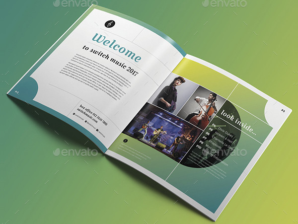 Square Events Brochure Template