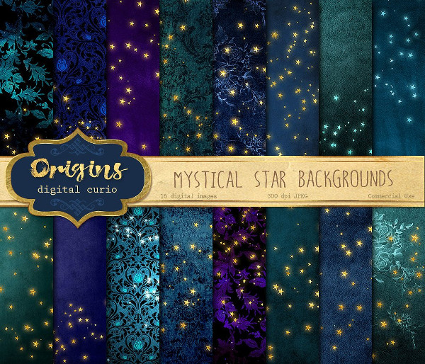 Mystical Star Shining Backgrounds
