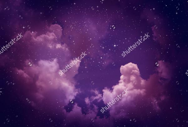 Star Sky Purple Background