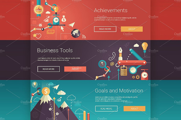 Set of Business Infographics Banners