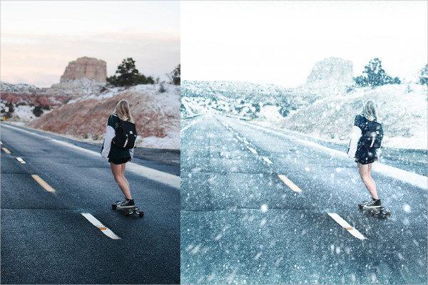 Stylish Snow Photoshop Action
