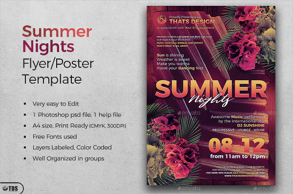 Summer Nights Flyer & Poster Template