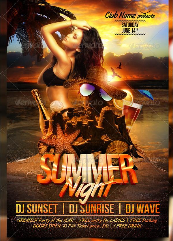 Vacation Summer Nights Flyer Template