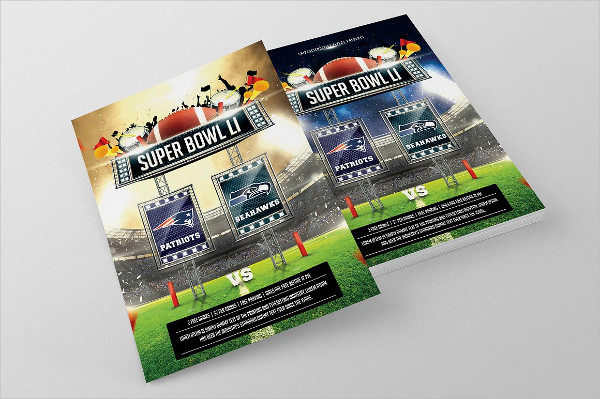 Super Bowl Photoshop Flyer
