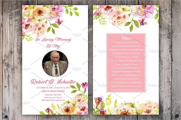 Perfect Funeral Prayer Card Templates