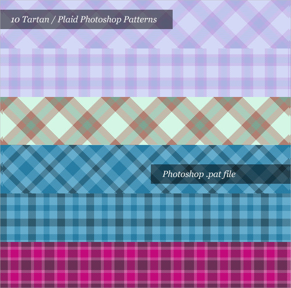 Tartan Photoshop Patterns Pack