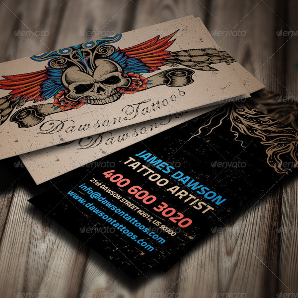 Best Tattoo Artist Business Card Template