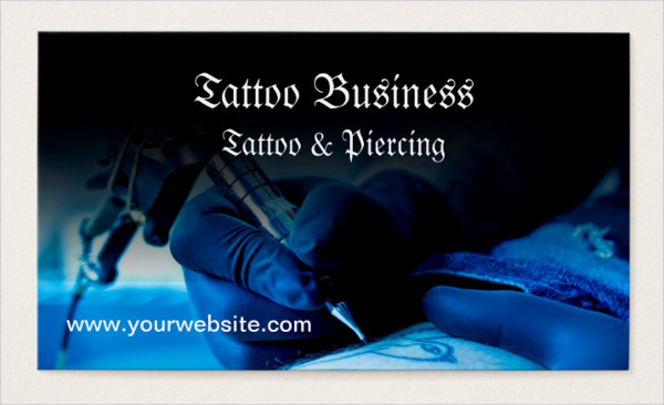 Tattoo Artist Salon Business Card Template