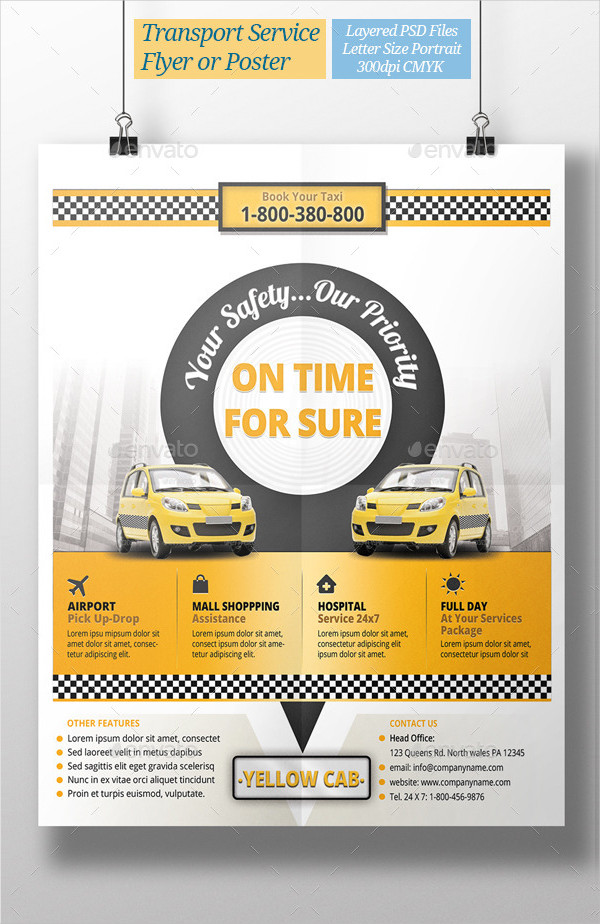 Taxi Transport Service Flyer Template
