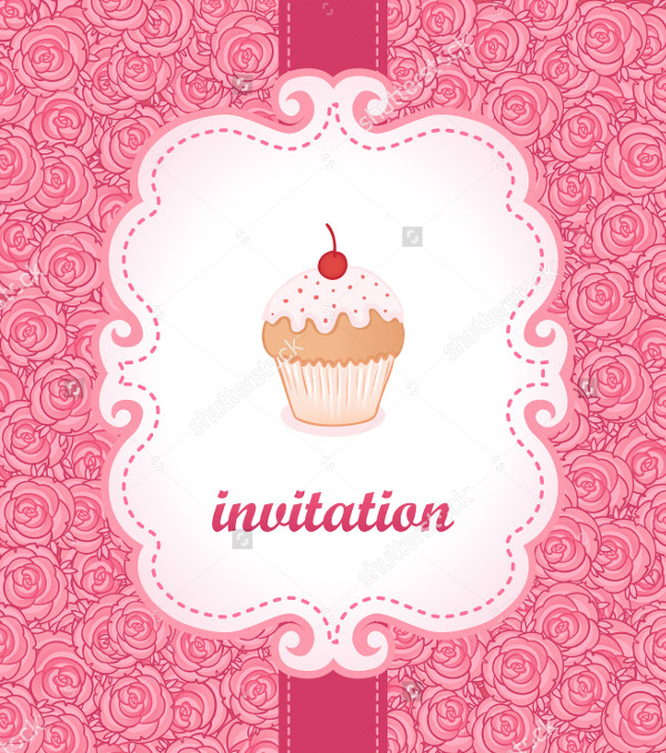 Tea Party Invitations in Vintage Style