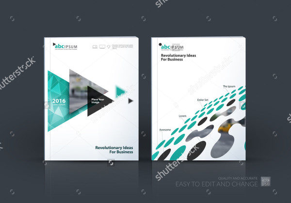 Abstract Technology Brochures Set