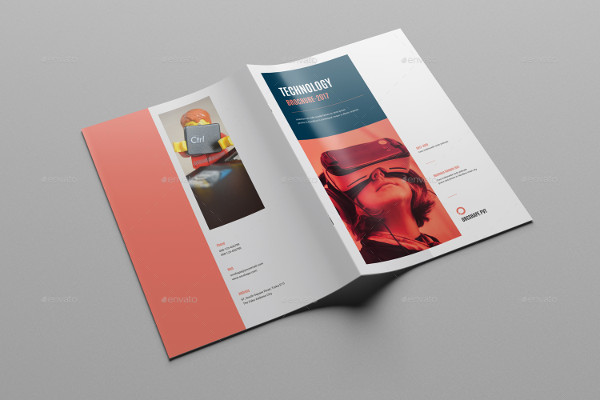 Technology Bi-Fold Brochure Template